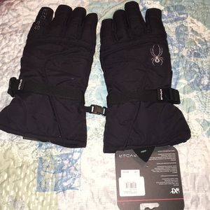 Black Spyder XT waterproof ski snowboard gloves
